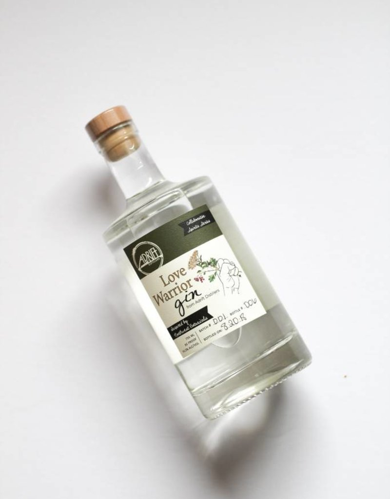 Adrift Distillers Love Warrior Gin 750mL