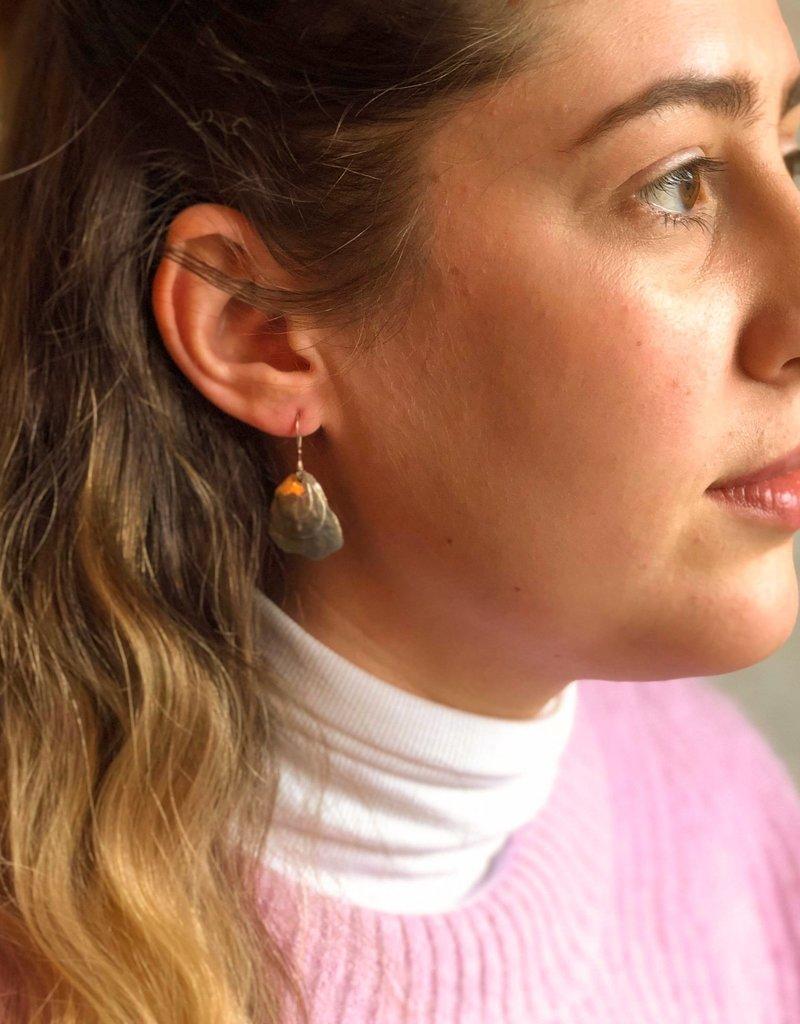 Jacob's Hammer Oyster Earrings