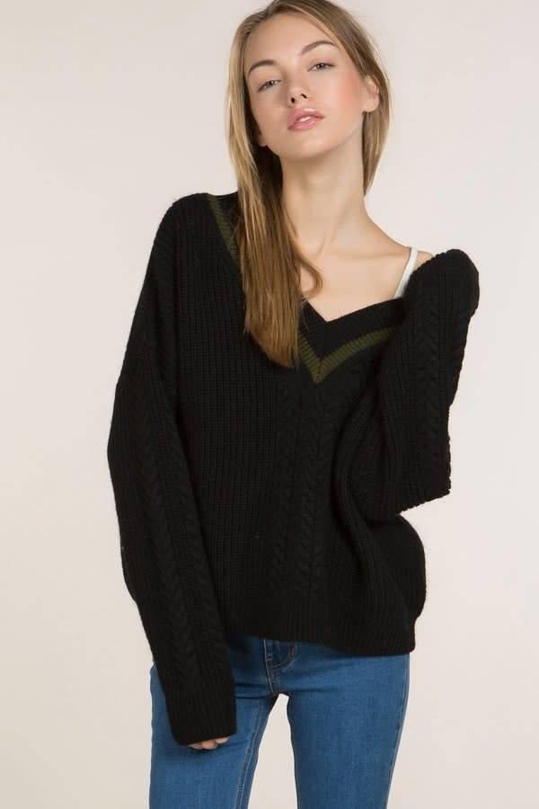 POL Black pullover sweater
