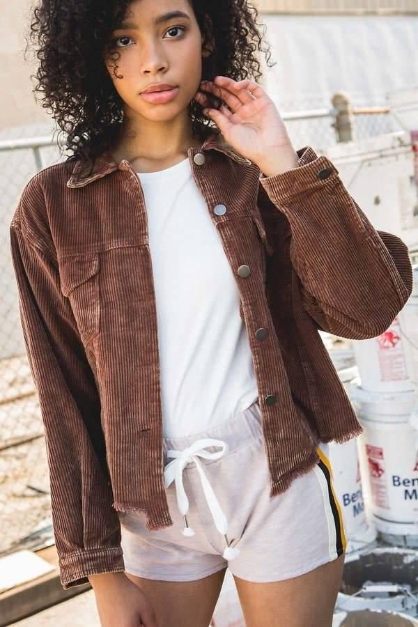 POL Brown Cord Jacket