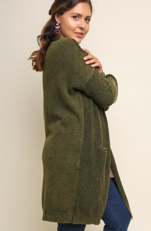 Olive Dyed Cardigan