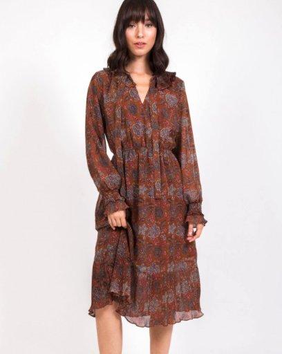 Camel Floral Dress
