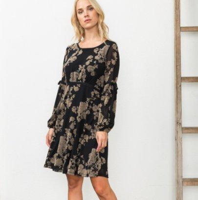 Lenore Velvet Burnout Dress