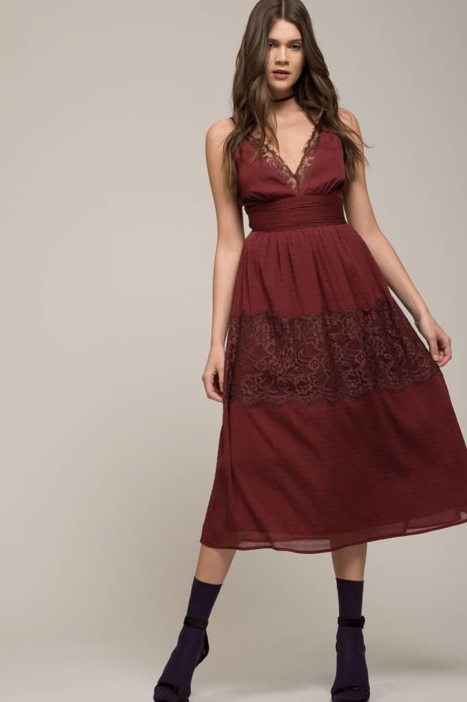 Burgundy Slip Dress