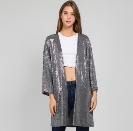 Silver Shine Kimono