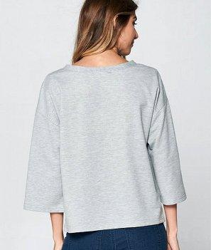Grey Paris Top