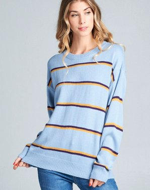 blue stripe sweatshirt