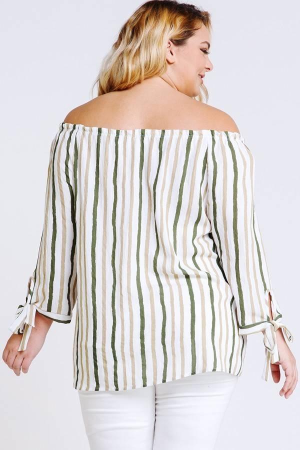 Linen Striped OTS Top