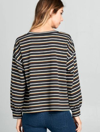 Dark Stripe Top