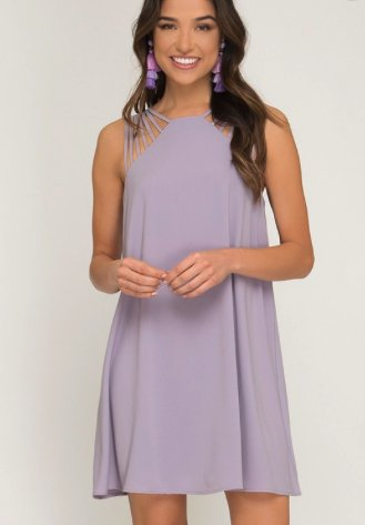 Like a Tulip, Lavender A Line Dress