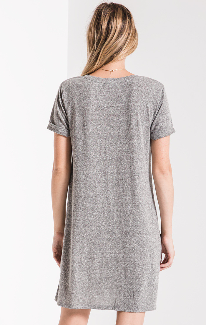 Triblend Side Knot Dress - Grey