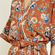 Floral Belted Kimono Top