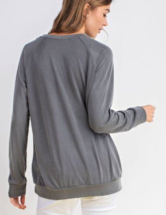 Charcoal Star Sweatshirt