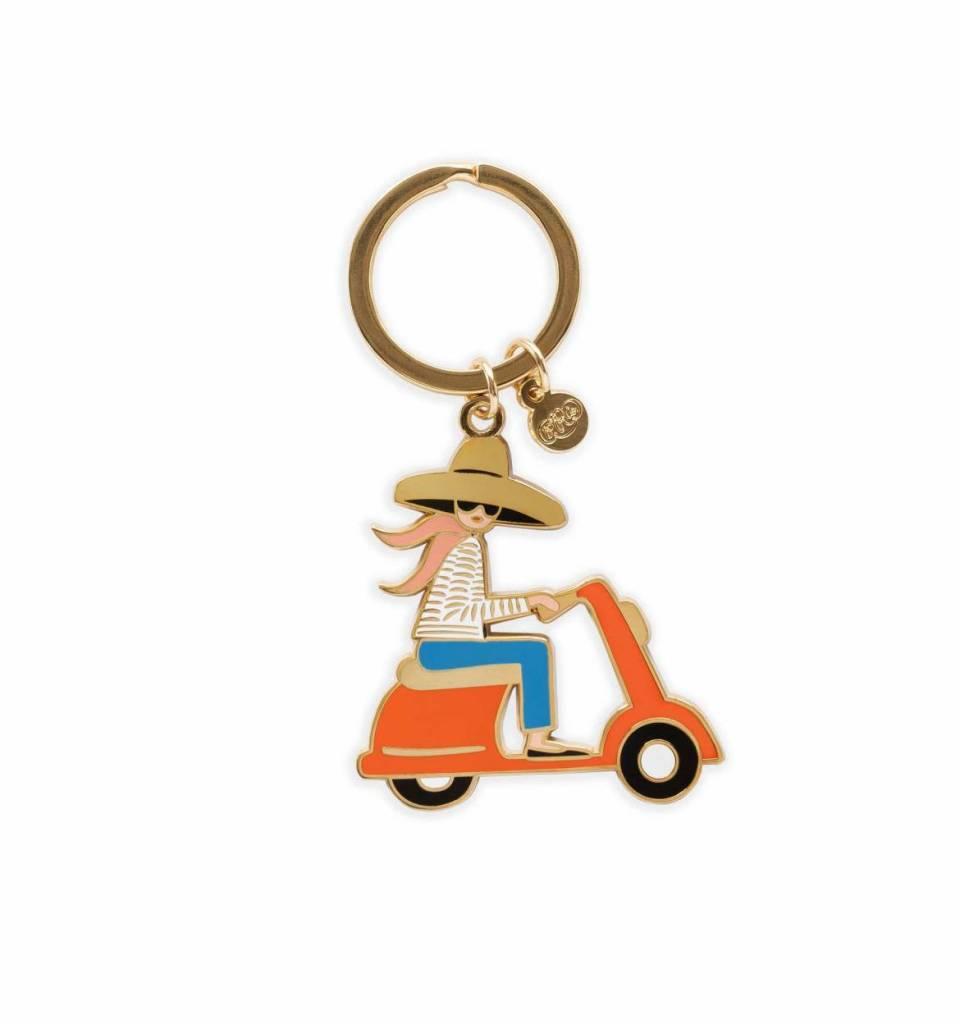 Scooter Enamel Keychain