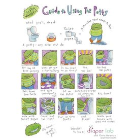 "Little Monsters Little Monster's Guide Using Potty 8"" x10"""