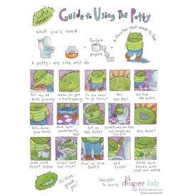 """Little Monsters Little Monster's Guide Using Potty 8"""" x10"""""""