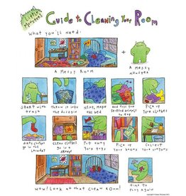 "Little Monsters Little Monster's Guide Clean Room 8"" x10"""