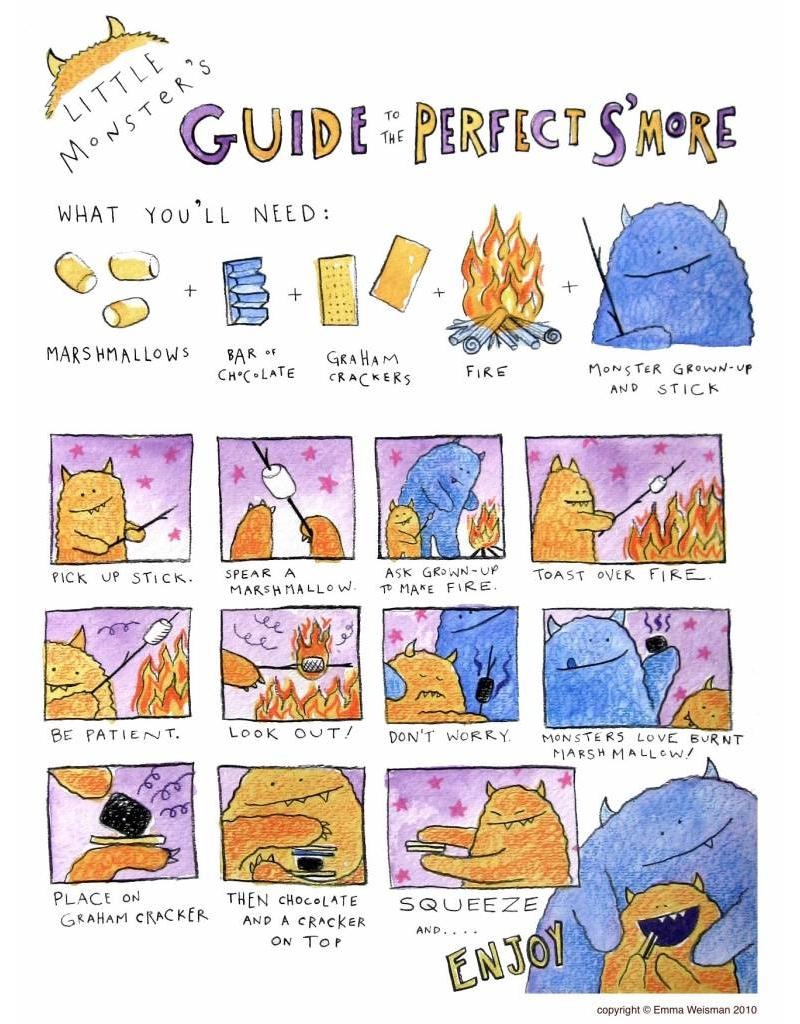 "Make S'mores 8"" x10"" Guide"