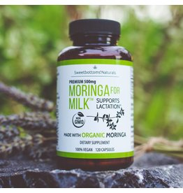 Sweetbottoms Naturals Sweetbottoms Naturals Organic Moringa for Milk Lactation Supplement - 120 Capsules