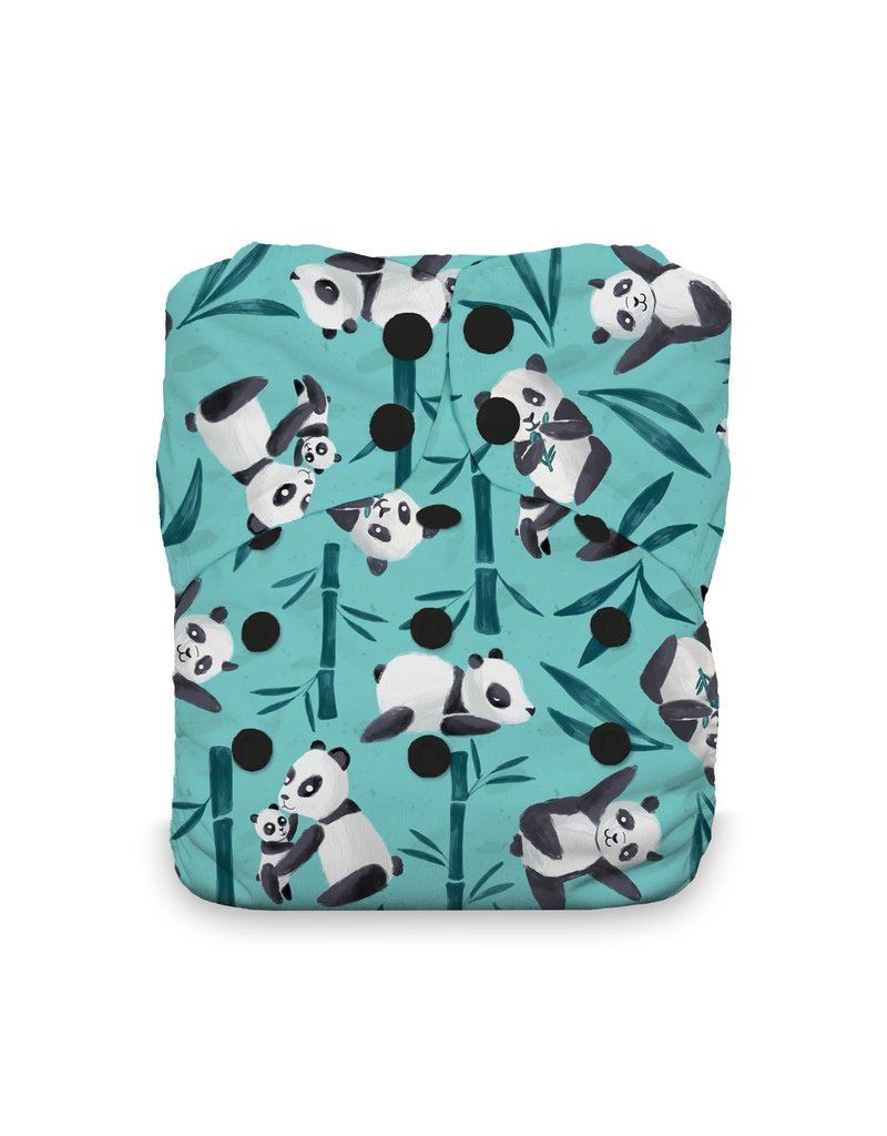 Thirsties Thirsties Natural One Size AIO Pandamonium Snap