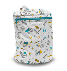 Rumparooz Rumparooz Wet Bag Print LE Nuts + Bolts 3D Bag