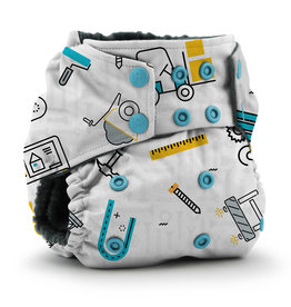 Rumparooz Rumparooz OBV Snap Pocket Print LE Nuts + Bolts One Size
