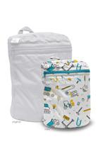 Rumparooz Rumparooz Wet Bag Mini - Print Nuts + Bolts