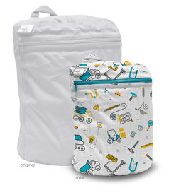 Rumparooz Rumparooz Wet Bag Mini - Print Nuts + Bolts