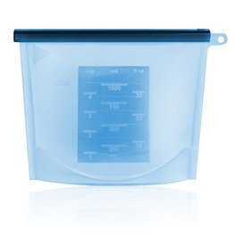 Haakaa Haakaa Silicone Zip Lock Reusable Bag - Blue