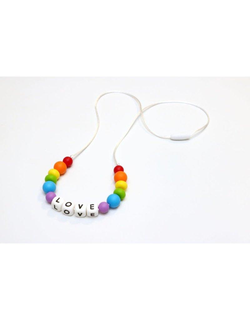 Getting Sew Crafty Getting Sew Crafty Sili Bead Adult Necklace Rainbow Love Adult