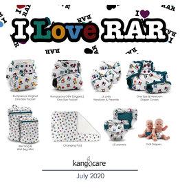 Rumparooz Rumparooz OBV Snap Pocket Print LE I LOVE RAR One Size