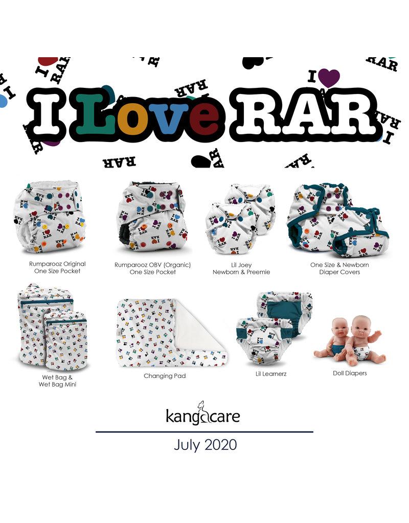 Rumparooz Rumparooz Changing Pad Print LE I LOVE RAR One Size