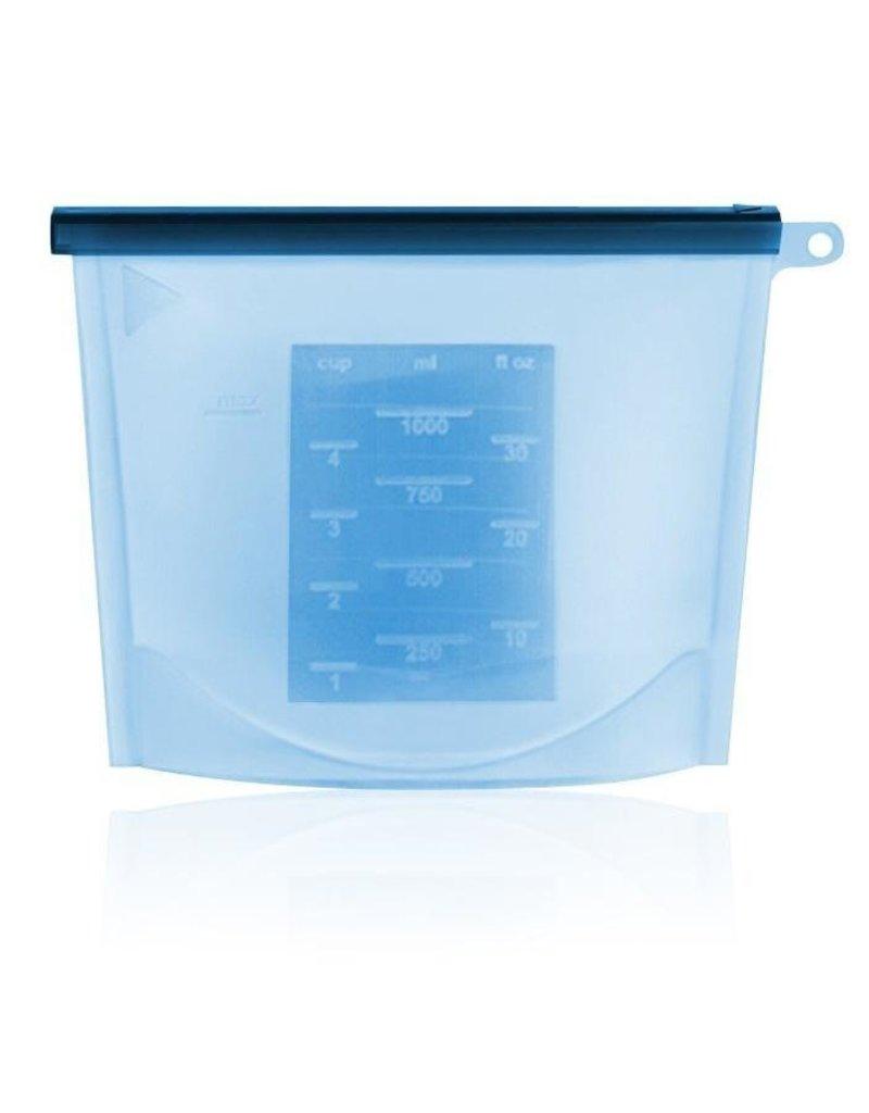 Haakaa Haakaa Silicone Zip Lock Reusable Bag - Blue