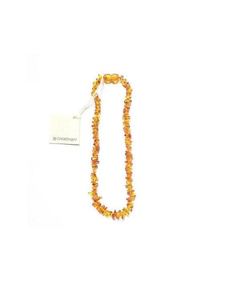 CanyonLeaf CanyonLeaf POLISHED Baltic Amber Honey Cut 11in Necklace