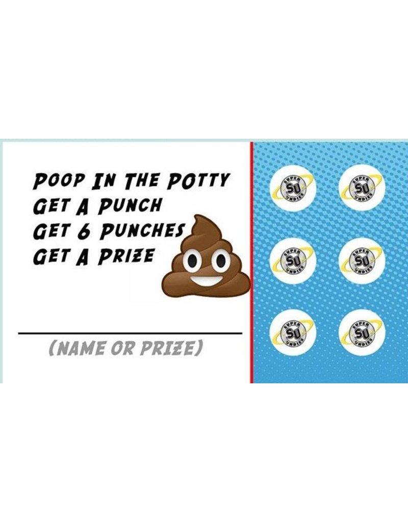 Super Undies Potty Punch Card