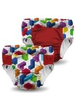 Rumparooz Rumparooz Lil Learnerz Trainers Ltd Ed Tetris Block Party XS - 2 pack