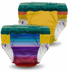 Rumparooz Lil Learnerz Trainers Be Happy/Dandelion Large - 2 Pack
