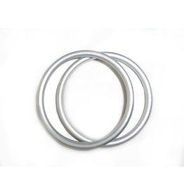 Girasol Aluminum Sling Rings about 3 inches diameter