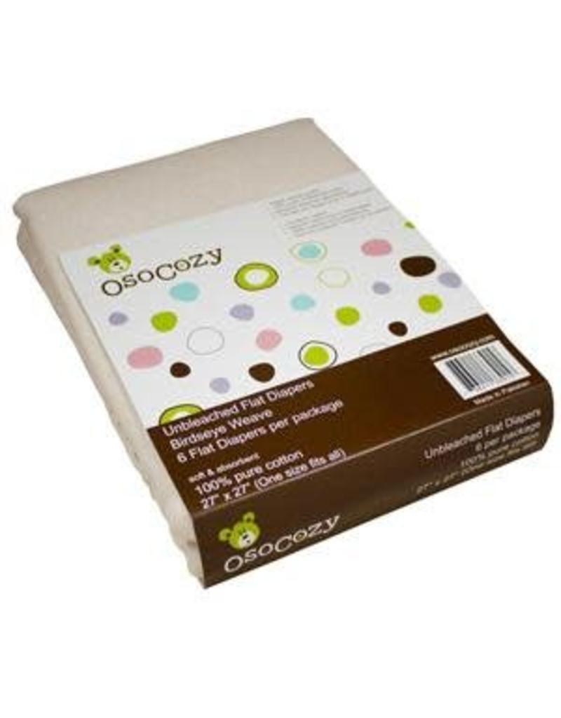 OsoCozy OsoCozy Unbleached Flat Diapers