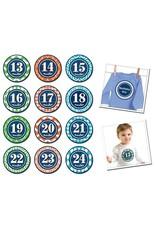 Sticky Bellies Monthly Sticker