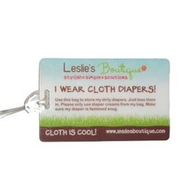 Leslie's Boutique Cloth Diaper Luggage Tag