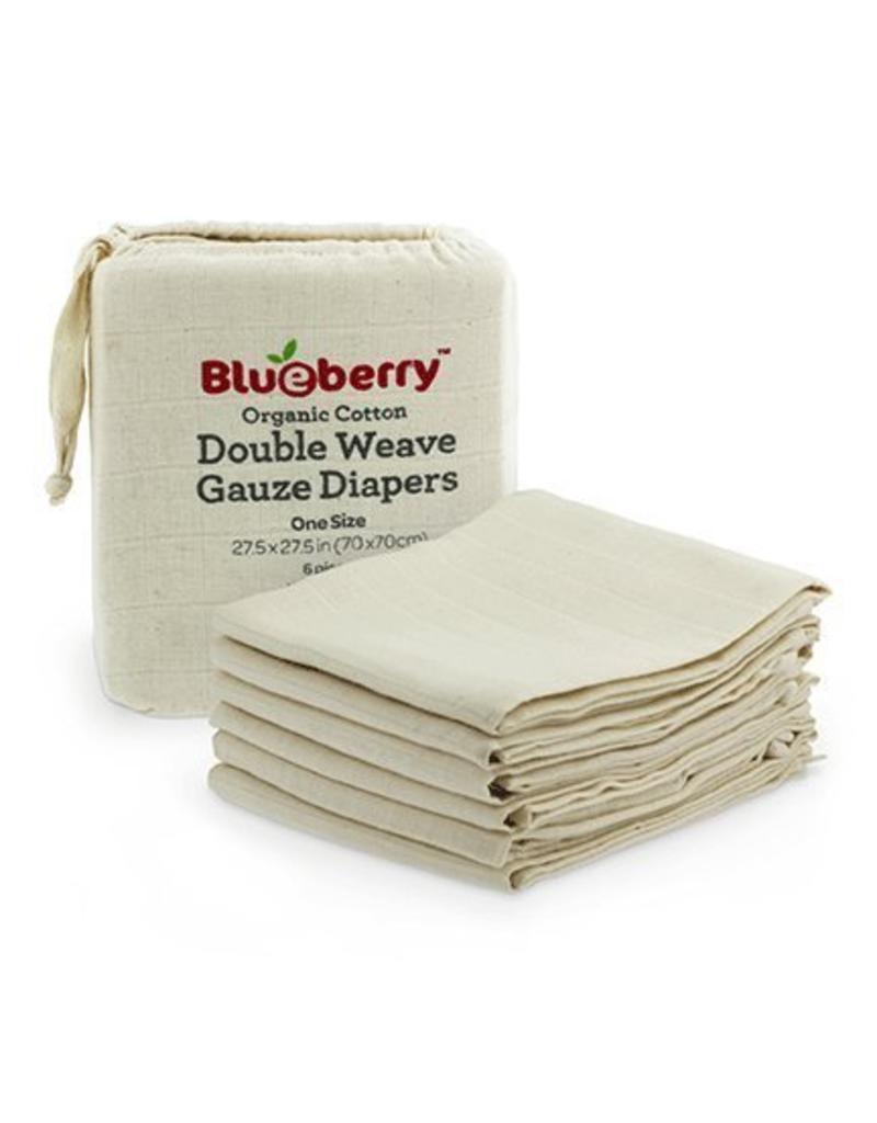Blueberry Blueberry Organic Gauze Flat Diaper