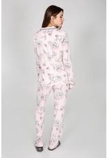 PJ Salvage PJ Salvage Shadow Stripe Floral PJ Set