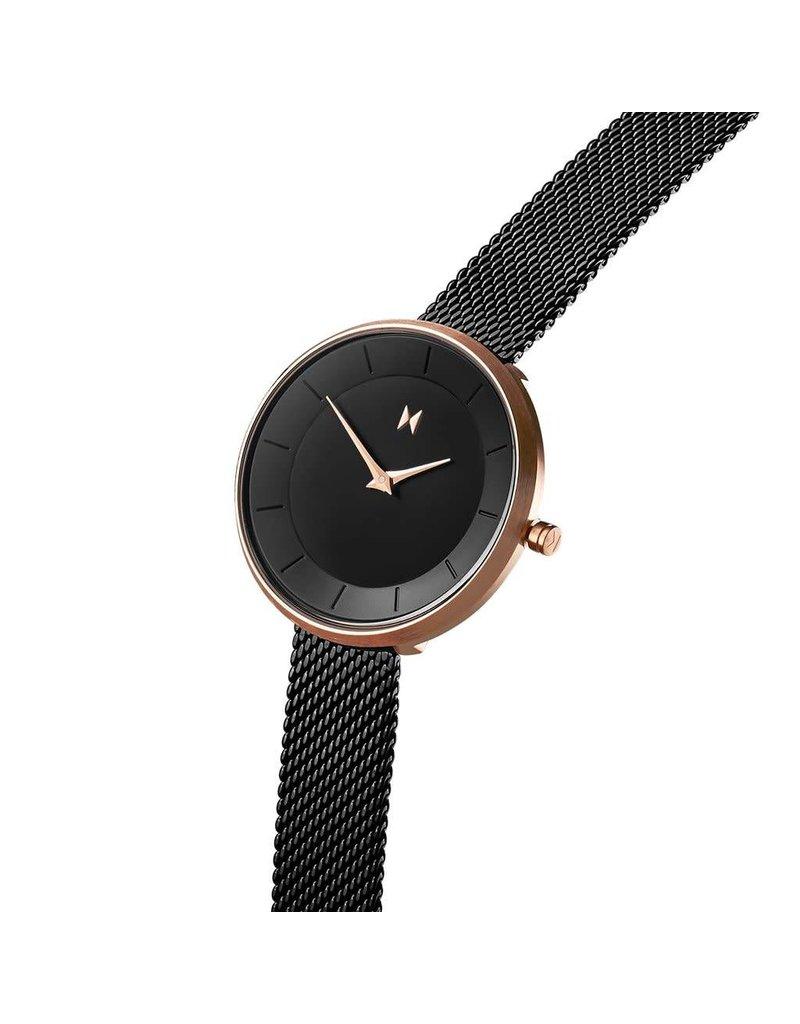 MVMT Mod 32mm Watch - black/rose metal