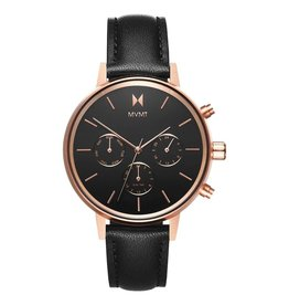 MVMT Nova Vela Watch - rose gold/black