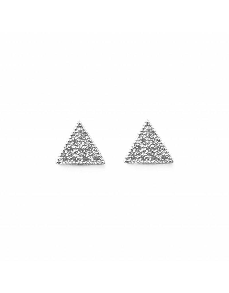 Melanie Auld Melanie Auld Pave Triangle Studs - Silver