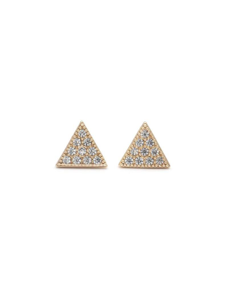 Melanie Auld Melanie Auld Pave Triangle Studs - Gold