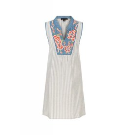 Tribal Tribal Sleeveless Dress with Embroidery