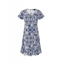 Tribal Tribal Short Sleeve Ruffle Hem Dress