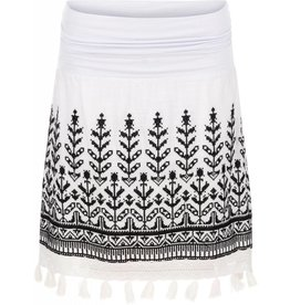Tribal Tribal Embroidered Skirt with Tassel